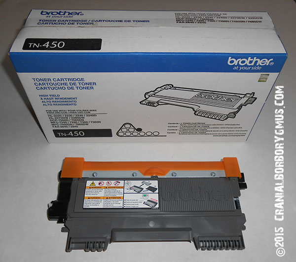 genuine Brother TN-450 toner