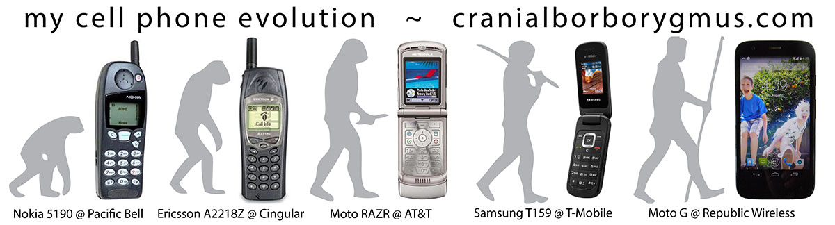 my cell phone evolution from Pacific Bell to Republic Wireless